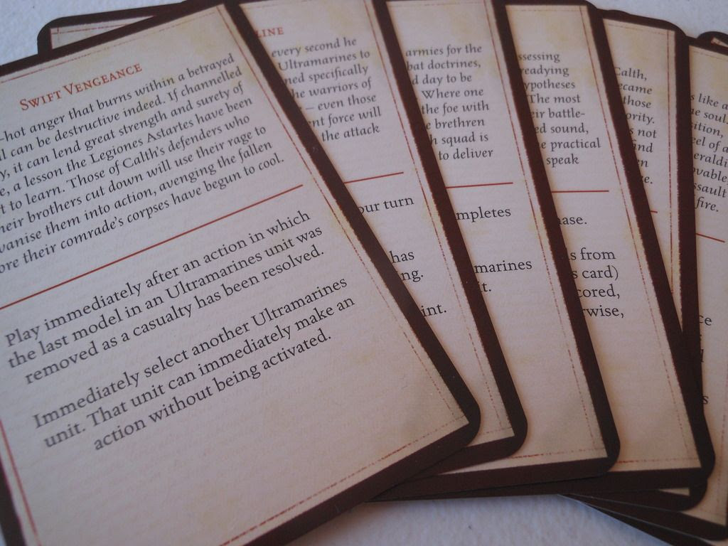 Betrayal at Calth command cards