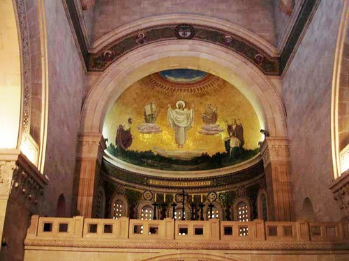 Mosaico de la Transfiguración  sobre el coro