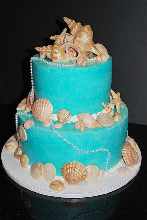 Round Seashell Wedding Cakes Wedding Cake   Cake Ideas by