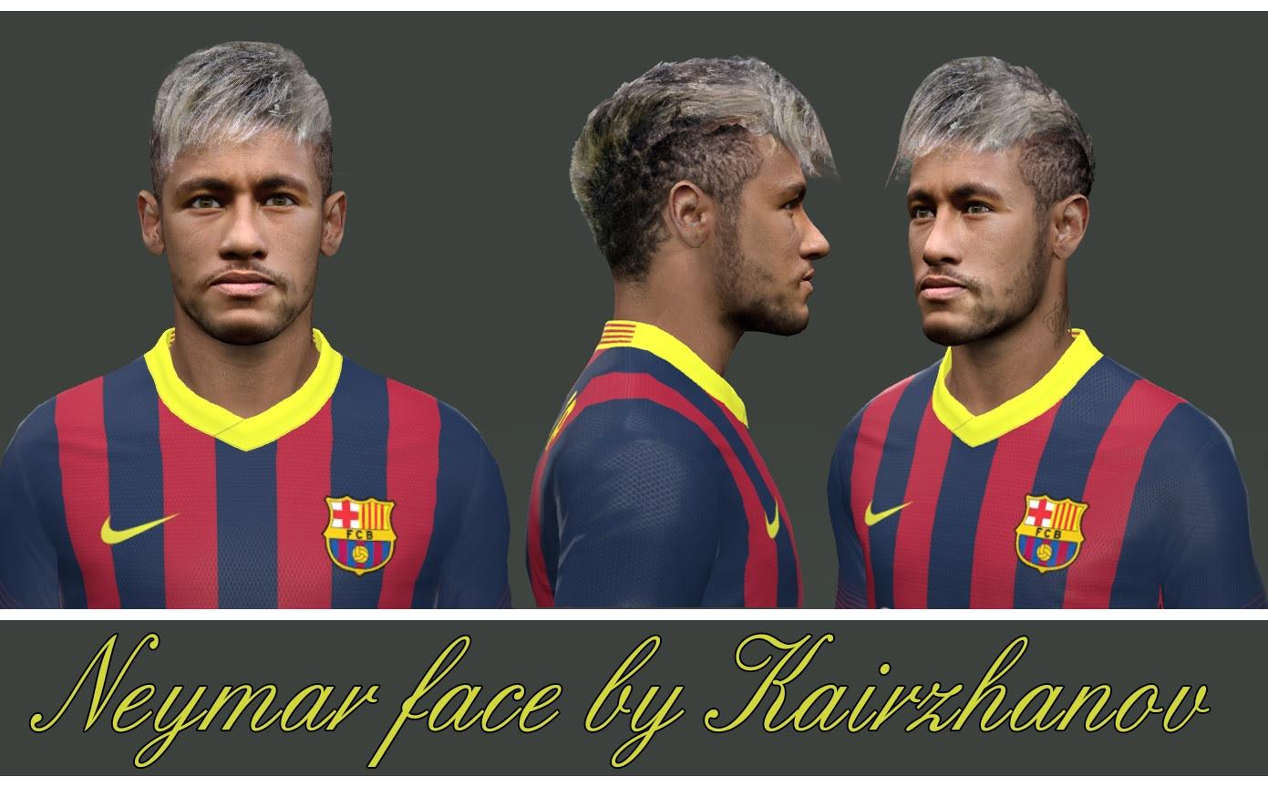 PES 2014 Neymar Face by Kairzhanov