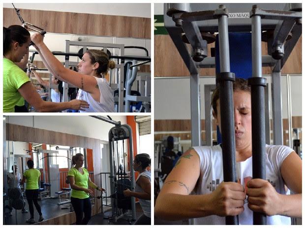 Fitness de Pobre, Nina Rodrigues, Patrícia Veloso, academia (Foto: Daniela Ayres/ G1)
