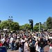 The line for Star Tours on opening day