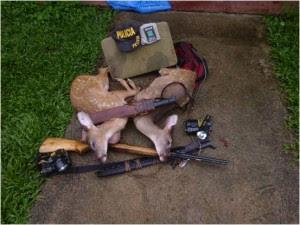 Detienen a sospechosos de cazar venados y pesca ilegal