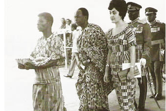 President Kwame Nkrumah of Ghana with First Lady Madame Fathia. 2009 represents the 100th anniversary of Nkrumah's birth in Ghana. by Pan-African News Wire File Photos