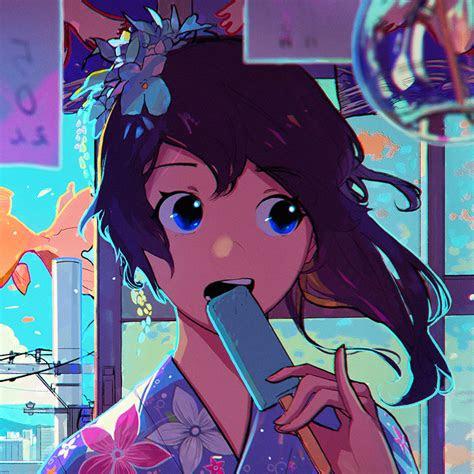 girl face anime art illustration wallpaper