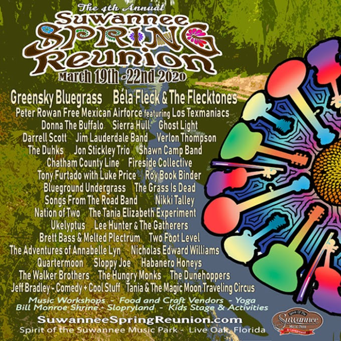 Greensky Bluegrass, Béla Fleck and the Flecktones and More Added to Suwannee Spring Reunion