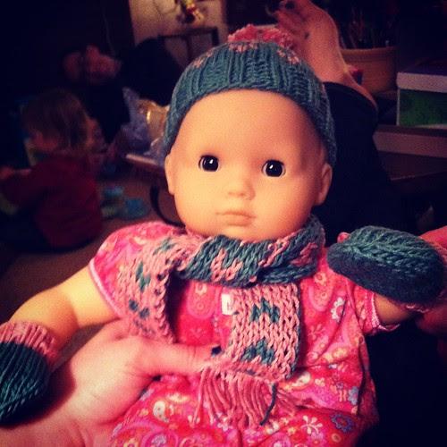 Bitty Baby in her winter gear