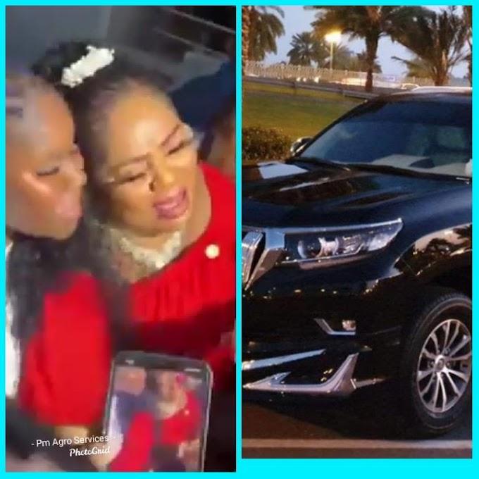 Actress Regina Daniel Buys New Toyota Prado For her Mother on Her Birthday