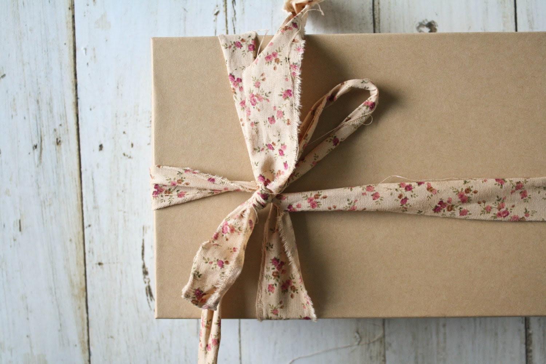 Hand-Ripped Fabric Ribbon, Calico Parfait, 5-yard Card - OliveManna