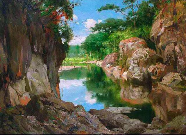 Fernando Amorsolo Sibul River, Zamboanga Del Sur