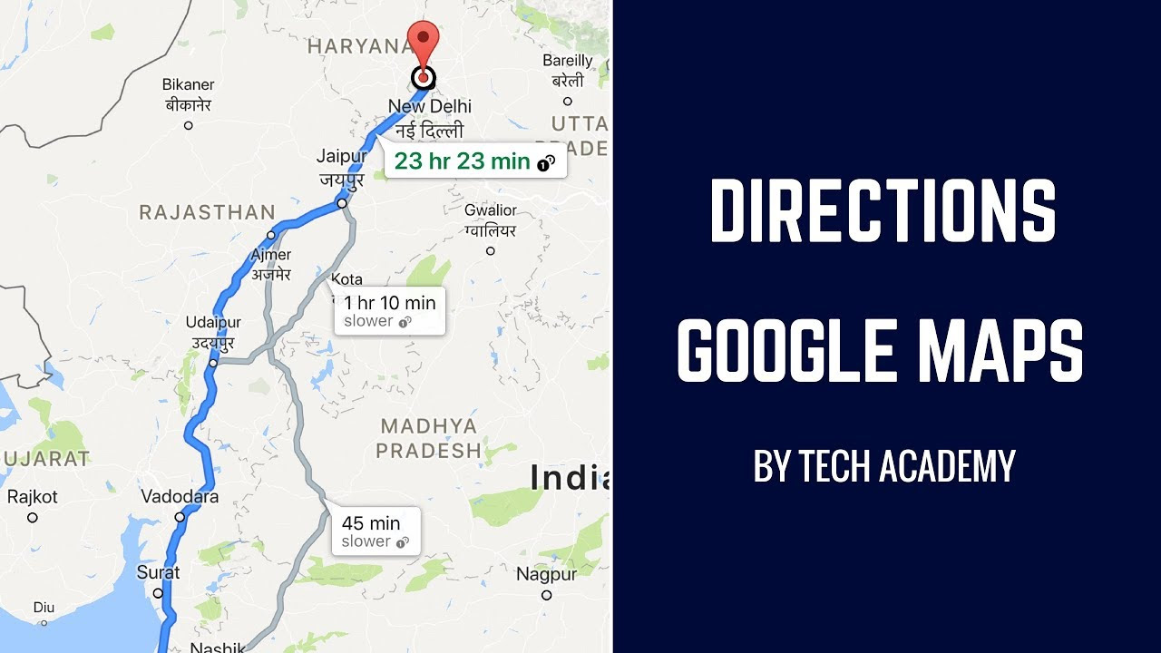 Show Directions Google Maps Tutorial Android Tutorials