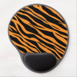 Orange Zebra Striped Gel Mouse Pad