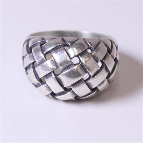 Silver 11g James Avery Woven Dome Ring   Property Room