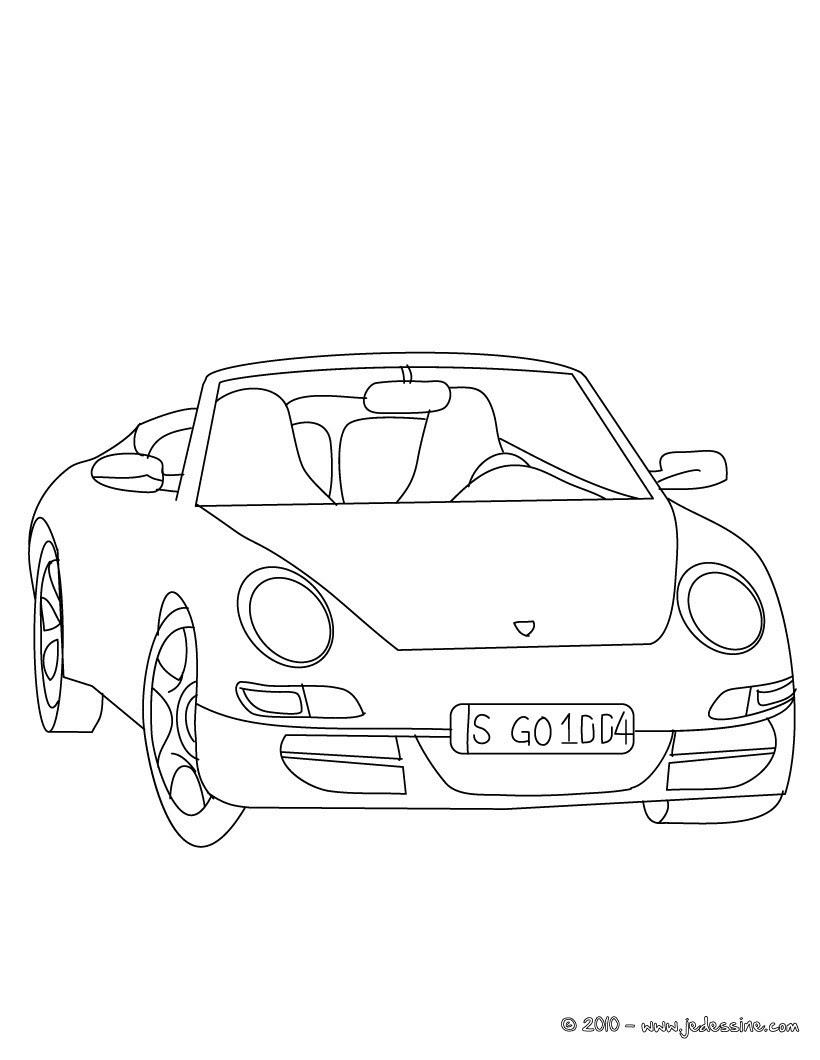 Coloriages Porsche Carrera à Colorier Frhellokidscom