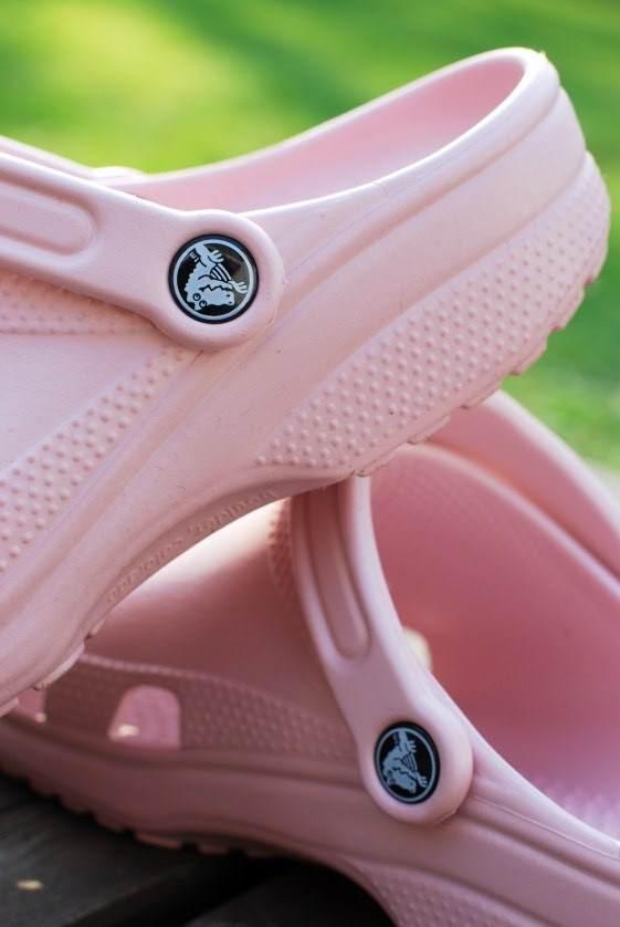 Pink crocs can be fashionable.....there good for gardening and out door activities