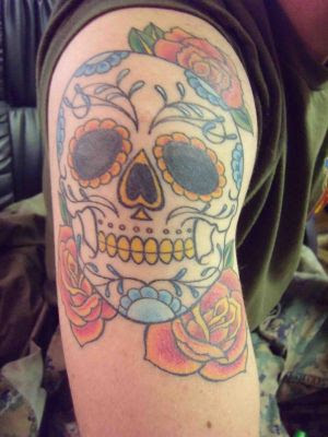Amazing Art Of Tattoo Shoulder Skull Tattoos Especially Sugar Skull