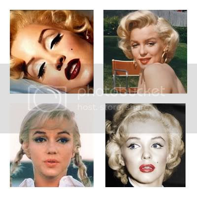 Marilyn Monroe full color makeup and fashion