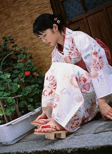 Beautiful girl in yukata