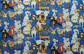RK Catberry Tails Cats and Dogs Royal 2.5yds $13.75 by pdboulay.