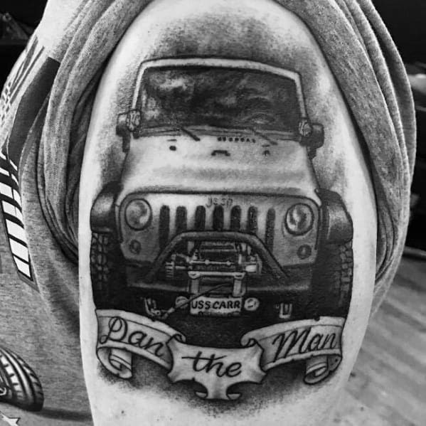Jeep Tattoo Design Ideas For Men
