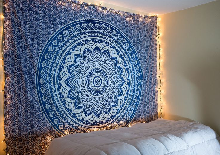 Blue Ombre Tapestry Bohemian Wall Tapestry Tapestry Bedroom Tapestry Wall Hanging
