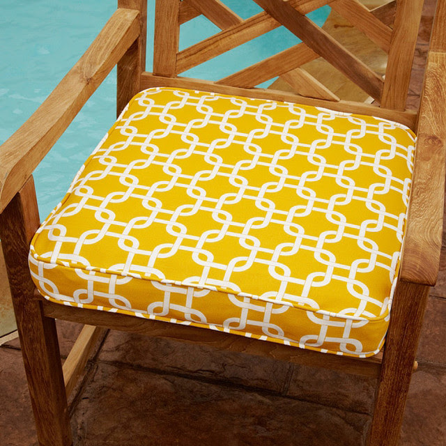 Penelope Yellow 20-inch Square Outdoor Chair Cushion ...