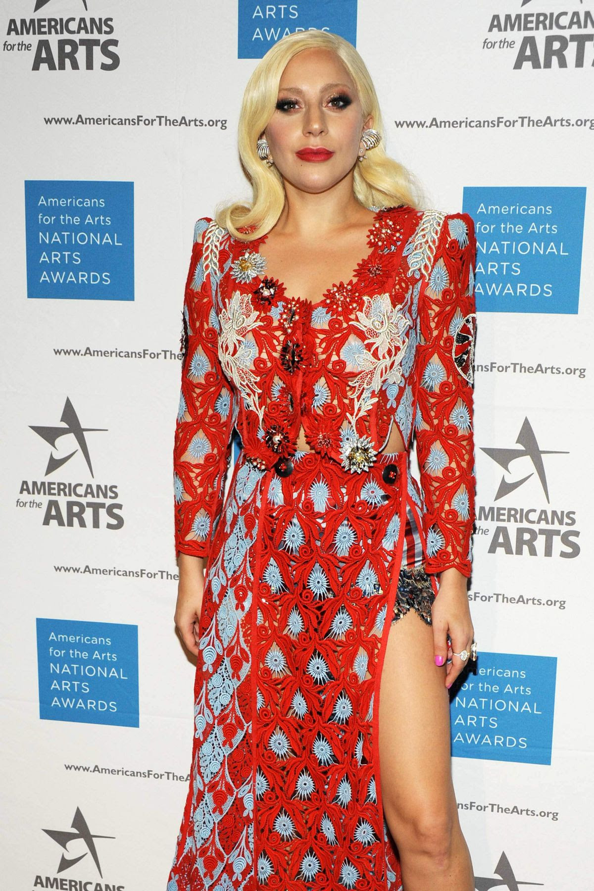 LADY GAGA at 2015 National Arts Awards in New York 10/19/2015