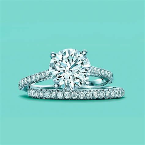 Tiffany Novo® Round Brilliant Engagement Ring with Pavé