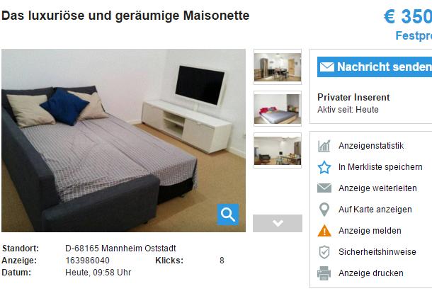 wohnungsbetrugblogspotcom Das luxuriöse und geräumige  -> Tv Lowboard Quoka Mannheim