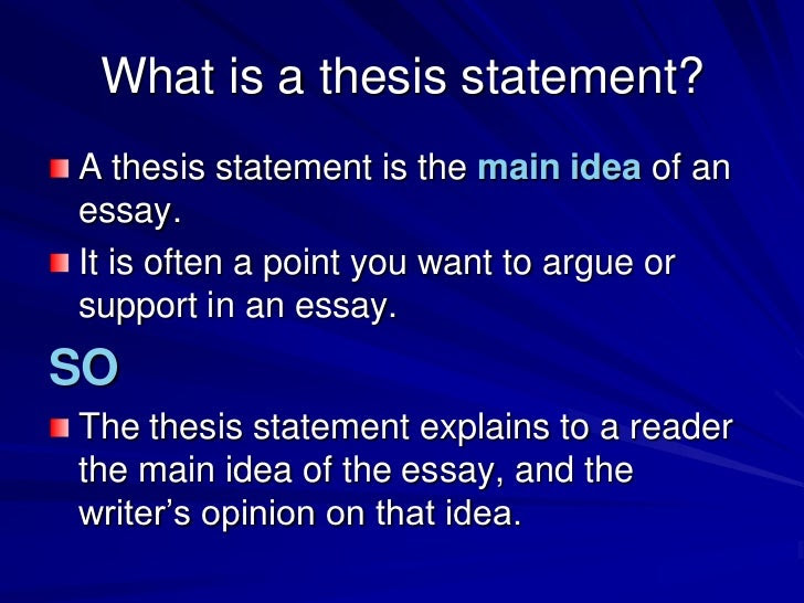 writing a thesis statement powerpoint middle school