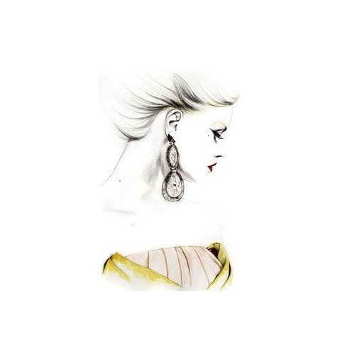 fashion illustrations, by Caroline Andrieu   (clipped to polyvore.com)
