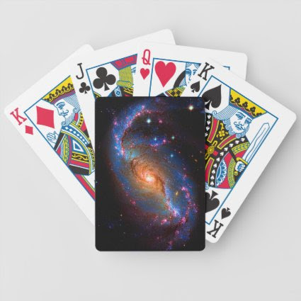 Barred Spiral Galaxy NGC 1672 Deck Of Cards