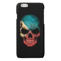 Customizable Filipino Flag Skull Glossy iPhone 6 Case