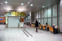 Waiting area at Shinagawa Station