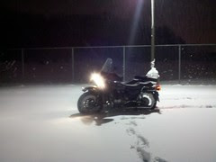 First winter ride of 2010 on the Ural!