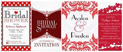 Red and White Bridal Shower Invitations ? partyinvitecards