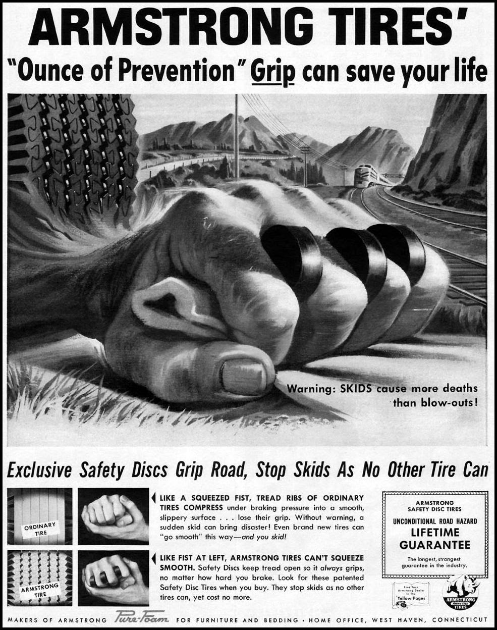 ARMSTRONG TIRES LIFE 04/01/1957 p. 125