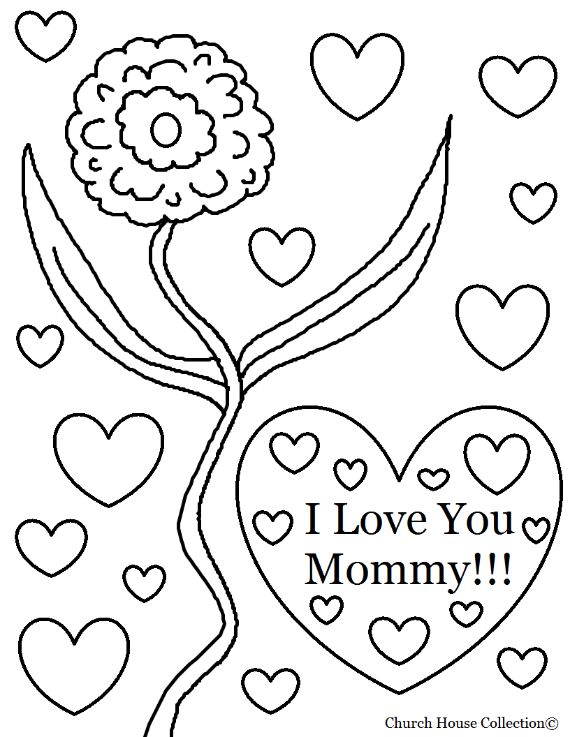 Image Coloriage i love you gratuit