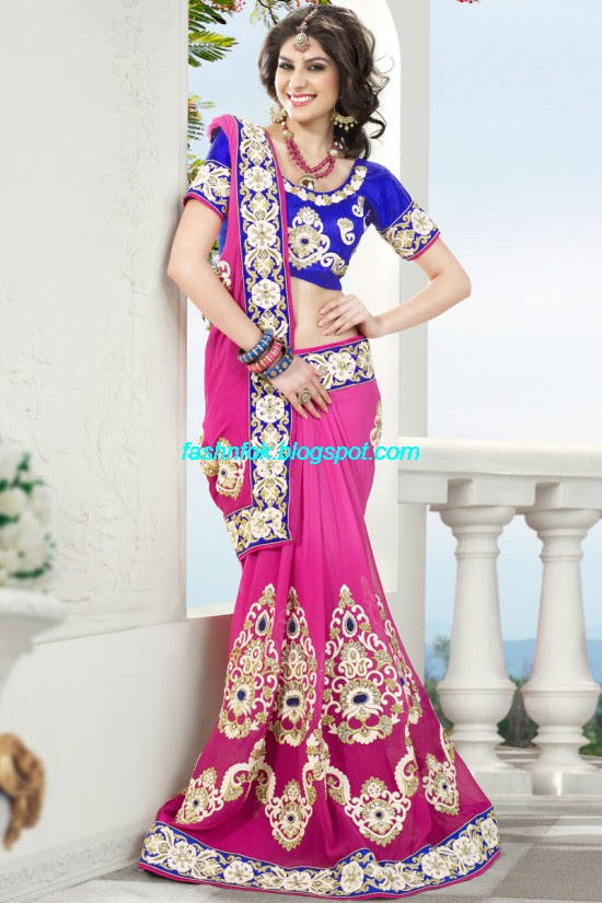 Indian-Brides-Bridal-Wedding-Fancy-Embroidered-Saree-Design-New-Fashion-Hot-Sari-Dress-15