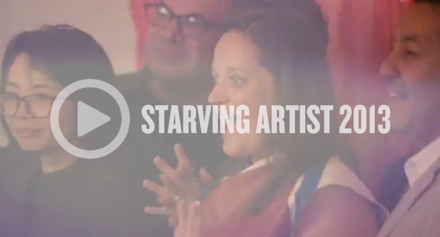Click to watch a video of last year's Starving Artist
