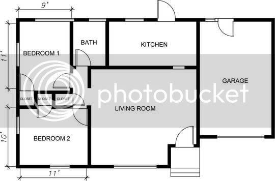Contoh interior bila dilihat dari arah pintu depan rumah , dimana