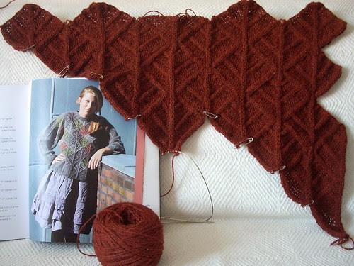 Domino sweater in progress by Asplund