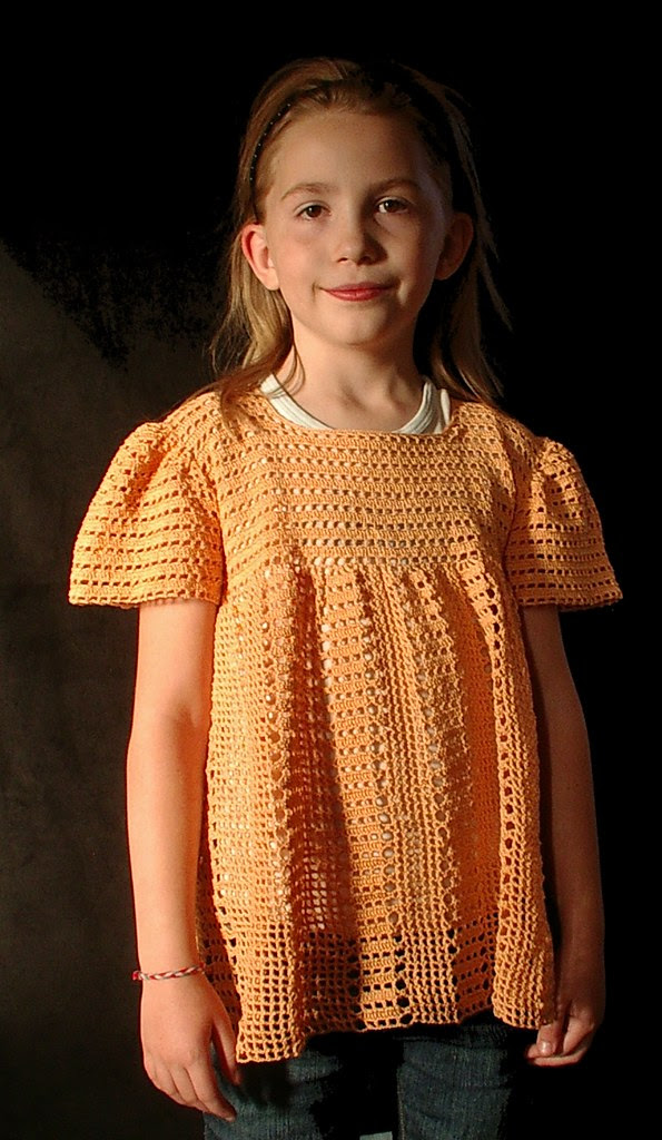 image 1 orange crochet shirt