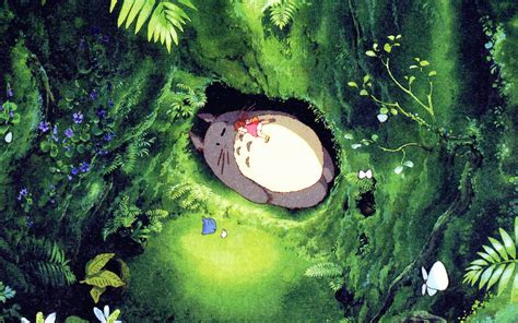 ap japan totoro art green anime illustration wallpaper