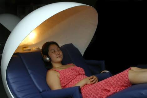 Un lugar habilitado para la siesta en el Empire State (Nueva York).   Miguel Rajmil   EL MUNDO