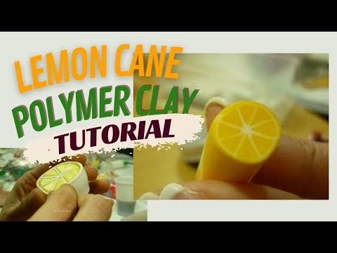 Tutorial: How to make a polymer clay lemon cane