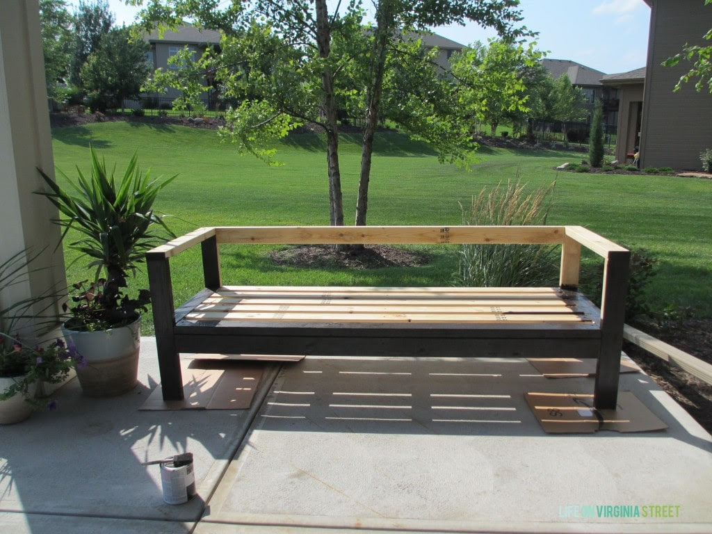 DIY Outdoor Couch - Life On Virginia Street