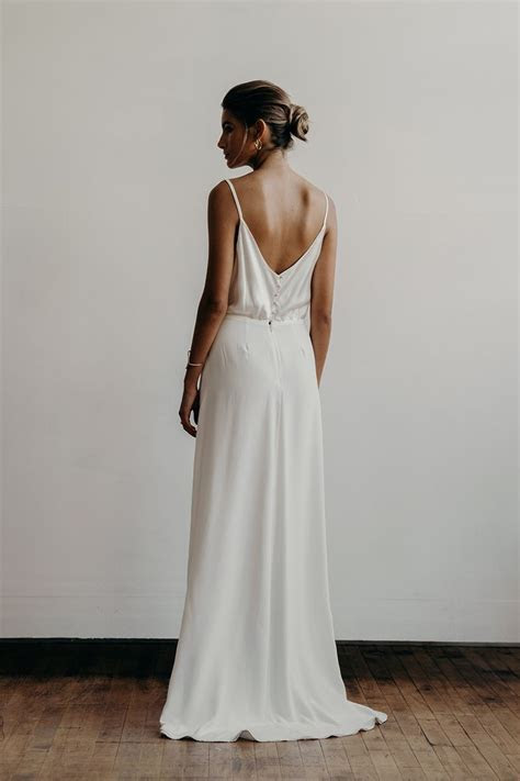 Lily dress back   Lena Medoyeff   Bridal   Portland