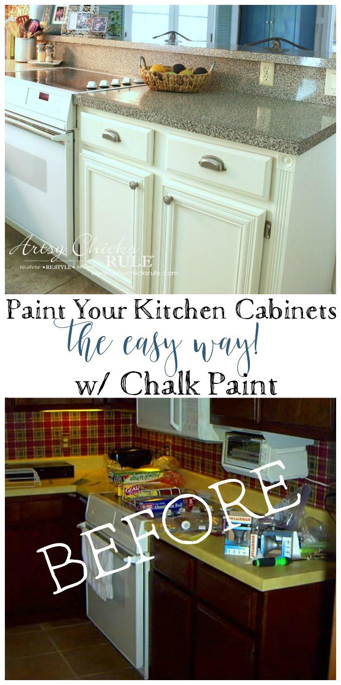 Kitchen Cabinet Makeover (Annie Sloan Chalk Paint) - Artsy ...