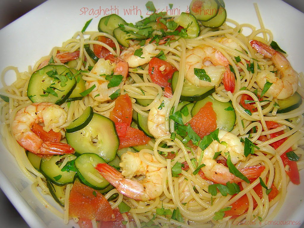 Spaghetti with Zucchini & Shrimp 1, edited